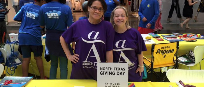 Attitudes and Attire North Texas Giving Day table