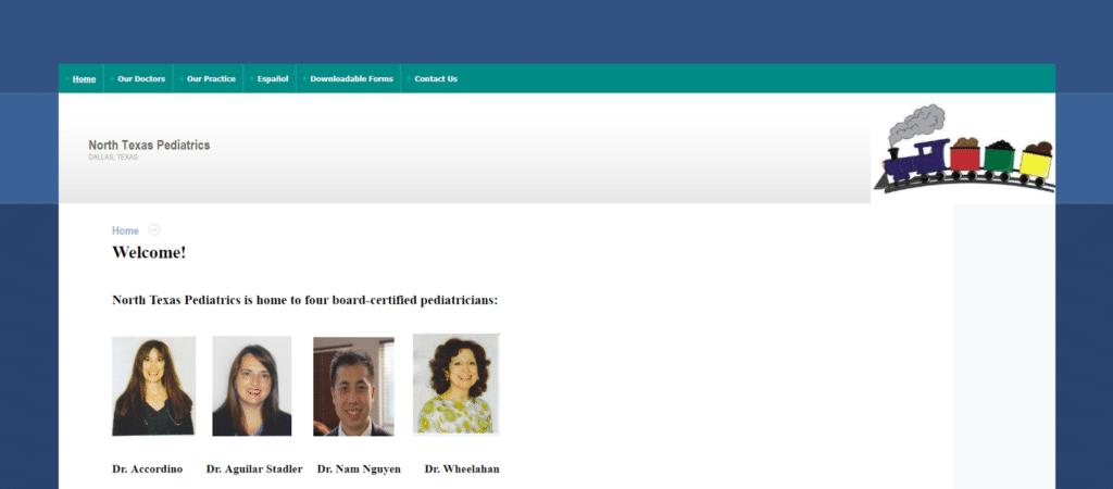 New Web Design for Dallas Pediatricians Highlights